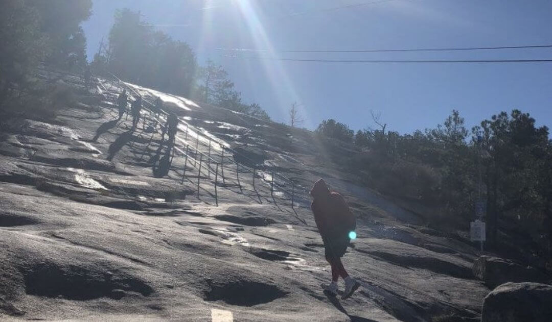hiking up stone mountain ga