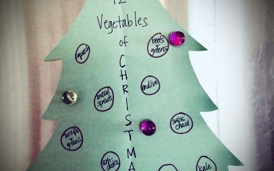 The Twelve Veggies of Christmas